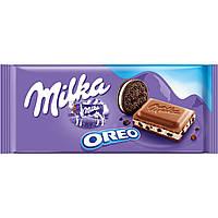 Шоколад Milka Oreo ( c печеньем Орео) Швейцария 100г, фото 1