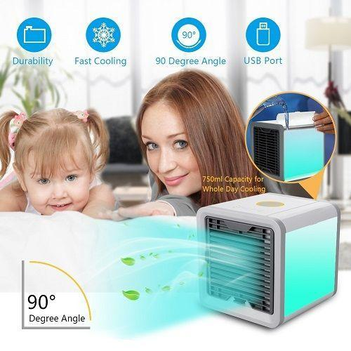 Мобильный кондиционер Arctic Air WHITE охладитель воздуха переносной портативный с питанием от USB