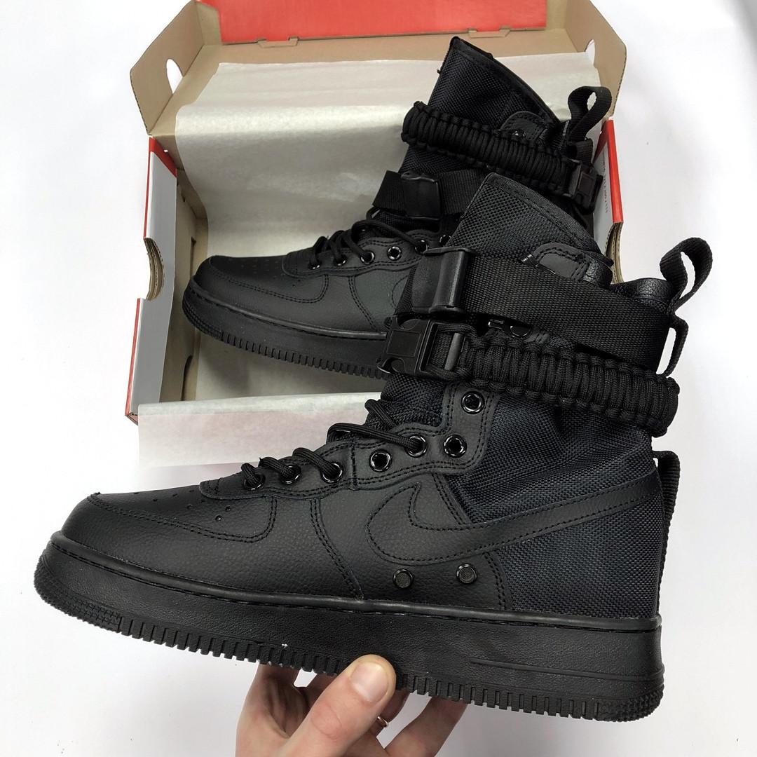 d73d718c Мужские кроссовки Nike Air Force 1 SF Triple Black (найк аир форс 1 спешл  филд, черные), цена 1 450 грн., купить в Киеве — Prom.ua (ID#912047981)