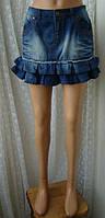Юбка женская джинс джинсовая модная мини бренд Only р.46