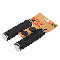 Грипсы Green Cycle GC-G223 130mm вспененная резина, эргономичные, черные с двумя черными замками