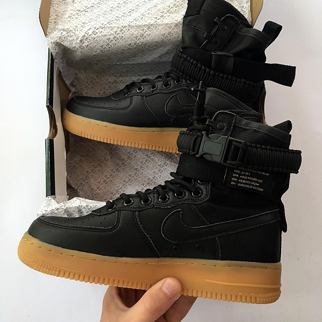 a9f67179 Мужские кроссовки Nike Air Force 1 SF Black (найк аир форс 1 спешл филд,  черные), цена 1 450 грн., купить в Киеве — Prom.ua (ID#871696343)
