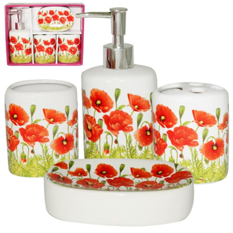 Набор аксессуаров для ванной комнаты 4пр. S&T Маки 888-06-020 S&T