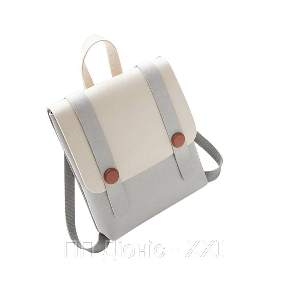 Рюкзак / Сумка маленькая серого цвета
