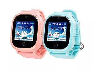 Детские умные часы DF30. Водонепроницаемые (голубой, коралловый, черный)