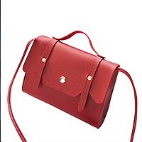 Женская сумка на плечо красного цвета, фото 1