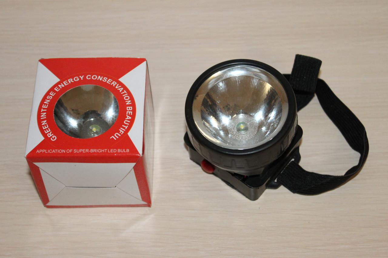 Фонарик налобный LED диод (1396)