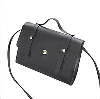 Женская сумка на плечо черного цвета, фото 1