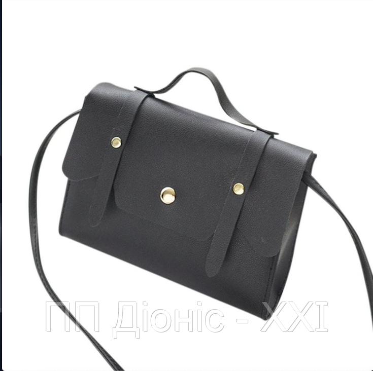 Женская сумка на плечо черного цвета