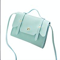 Женская сумка на плечо голубого цвета, фото 1