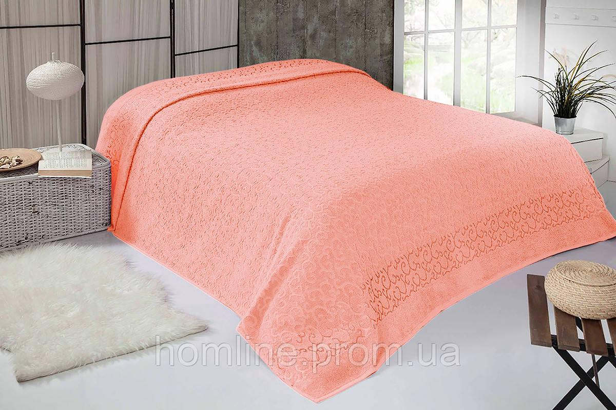 Простынь Iris Home махровая Оранжевый 160*220 полуторный размер