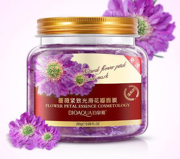 Несмываемая ночная маска BIOAQUA Natural Flower Petal Facial Sleep Mask с экстрактом лепестков хризантемы 280g, фото 1