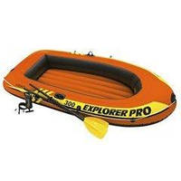 Полутораместная надувная лодка Intex 58358 Explorer Pro 300 Set, 244 х 117 х 36 см,с веслами и насосом