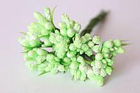 Добавка блеск с травкой 10-12 шт\уп.нежно-салатового цвета, фото 1