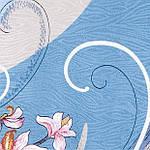 """Платок шелковый Павлопосадский (жаккард) """"Танцующие орхидеи"""" размер 84х84 см. рис.1444-2, фото 4"""
