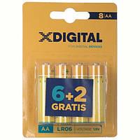 Батарейка X-Digital AA/LR06 BL 8 шт
