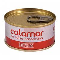 Кальмары Hacendado Calamar En Salsa Americana, 80 г (Испания)