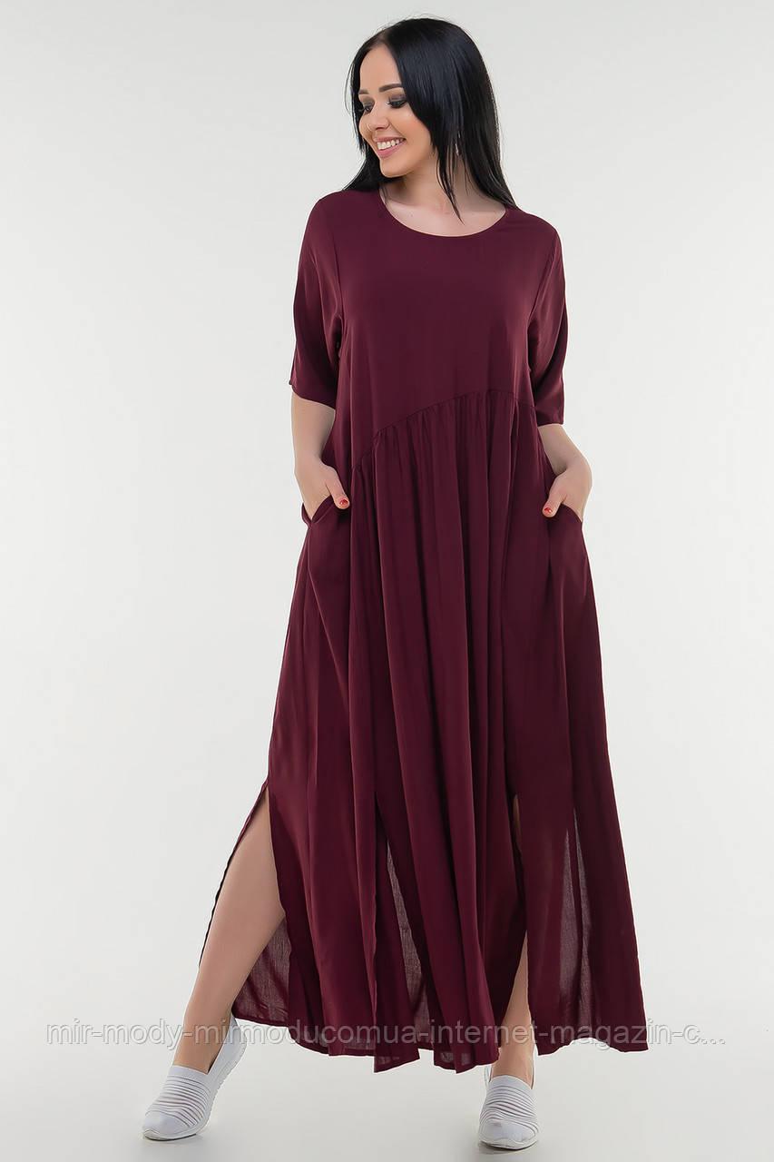Летнее батальное платье штапель с 50 по 60 размер  (влн)