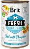 100162/3923 Brit Fresh Fish with Pumpkin с рыбой и тыквой, 400 гр
