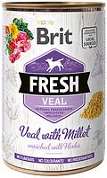 100161/3916 Brit Fresh Veal with Millet с телятиной и пшеном, 400 гр
