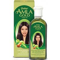 Масло для волос Dabur Amla Gold Hair Oil с экстрактами амлы, хны и миндального масла