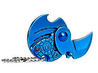 Универсальный складной нож монетка Паук  Синий
