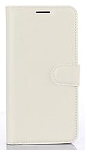 Кожаный чехол-книжка для Huawei Y7 белый