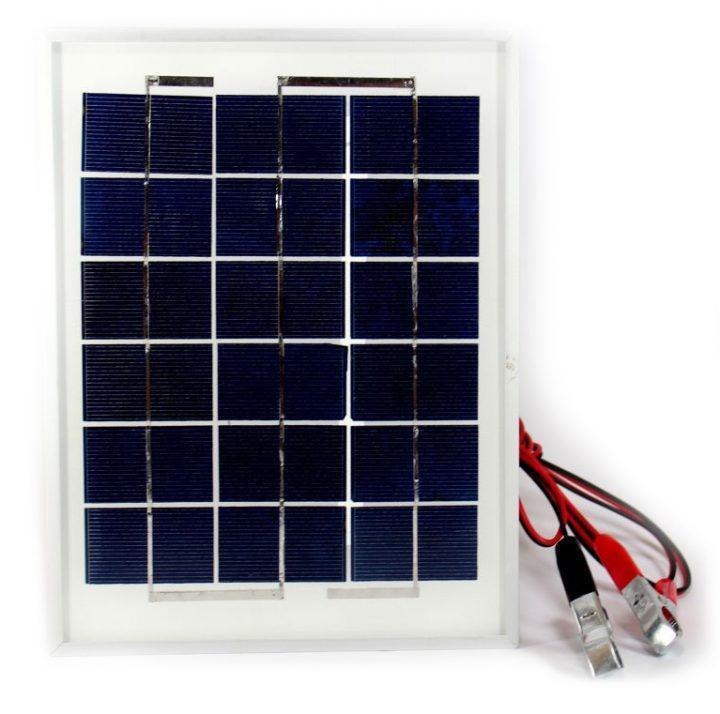 Универсальная солнечная панель Solar board UKC 5W 9V со щупами 250x190x17 мм