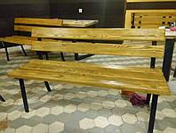 Лавочки, скамейки уличные (металл+дерево), 1500х500, Хмельницкий, доставка по Украине