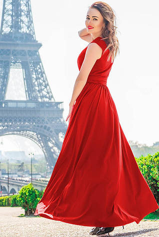 Яркое женское платье Ларис, красное