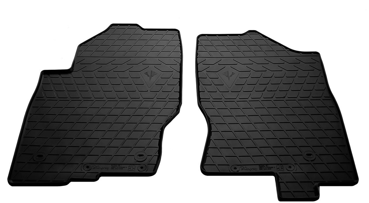 Коврики в салон резиновые передние для Nissan Pathfinder 2010- Stingray (2шт)