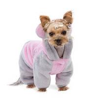 """Костюм """"АЛЬФ"""" S розовый/серый одежда для собак"""