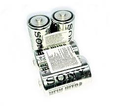 Батарейки солевые Sony  D большие, R 20, упаковка — 24 шт