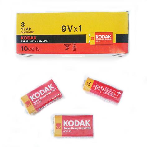 Батарейки крона Kodak 6F22, 9 V, упаковка — 10 шт, фото 2