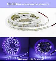 Светодиодная LED лента UV 2835 60LED/м  300LED 4,8W/м ультрафиолет 12V IP20, фото 2