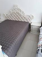 Ліжко (кровать) з різьбою з масиву дерева(ясен) з мякою частиною