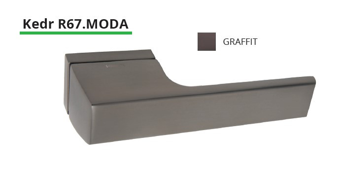 Дверная ручка на квадратном основании NEW KEDR R67-MODA-Graffit