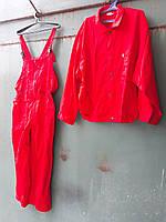 Полукомбинезон с курточкой красный, хлопок 100% , ( распродажа , размеры от 56 до 60 )