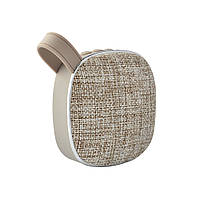 Портативна Bluetooth колонка SUNROZ Fabric Mini Speaker 3W Сірий (SUN4262), фото 1
