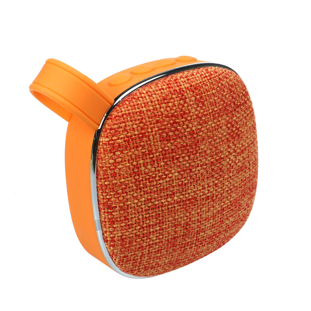 Портативна Bluetooth колонка SUNROZ Fabric Mini Speaker 3W Оранжевий (SUN4263)
