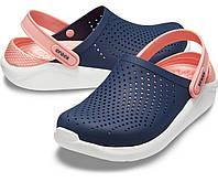 Женские кроксы синие, сабо Crocs LiteRide оригинал