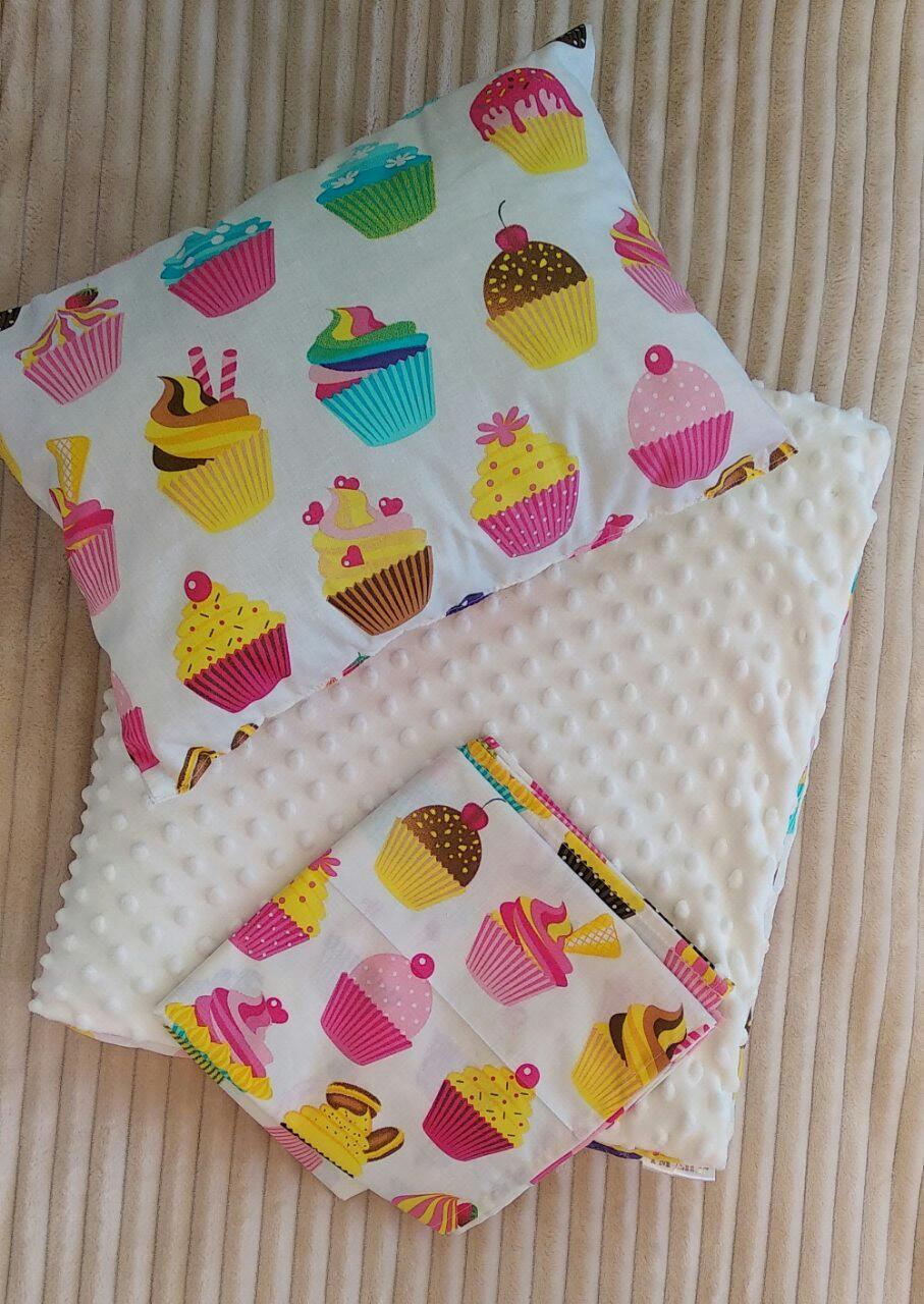 Одеяло + подушка + простынь, набор в коляску 3 в 1!