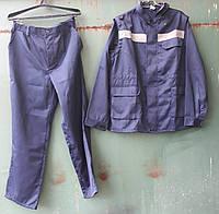 Костюм рабочий (куртка + брюки) тк.Грета, темно - синий ( распродажа , размер 52-54 / 5,6 )