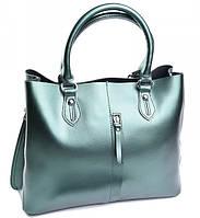 Женская кожаная сумка 653G Pearl Green