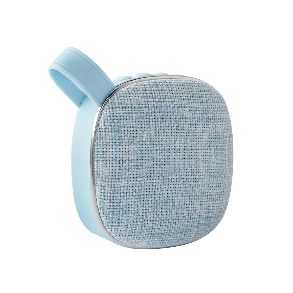 Портативна Bluetooth колонка SUNROZ Fabric Mini Speaker 3W Блакитний (SUN4265)