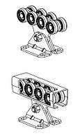 """Комплект """"средний"""" (до 500 кг.)  с  неоцинкованной шиной,  пластик роликами SGN.02.140"""