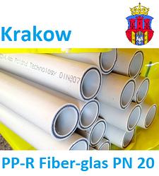 Полипропиленовая труба со стекловолокном для отопления Krakow PP-R Fiber-glas PN 20