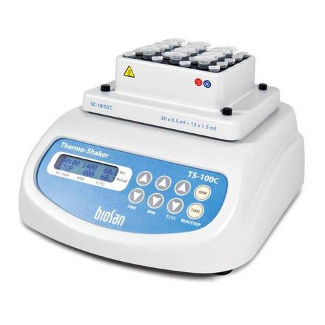 Термошейкер с охлаждением для микропробирок и ПЦР планшетов TS-100C, фото 2