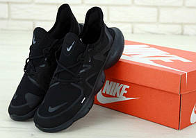 Мужские спортивные кроссовки Найк Фри Ран черного цвета