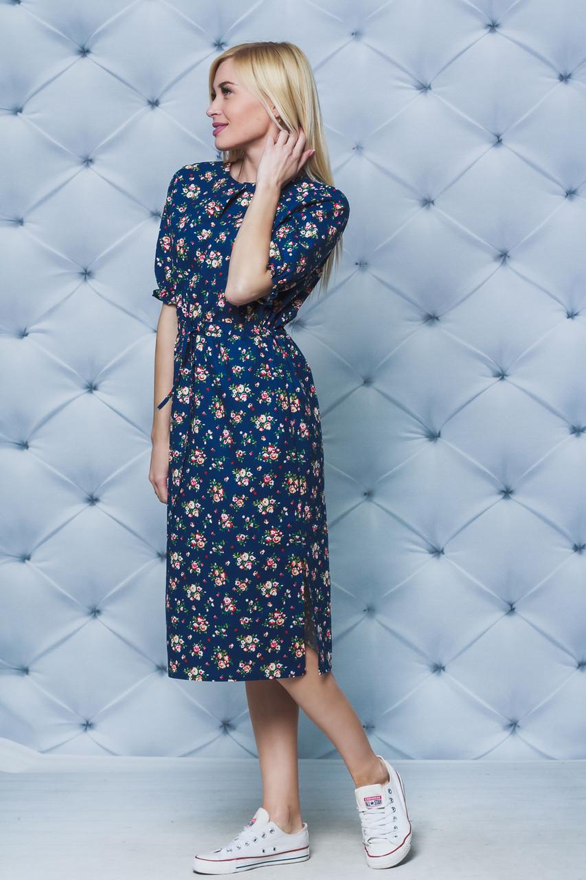 Платье летнее на кулиске лен